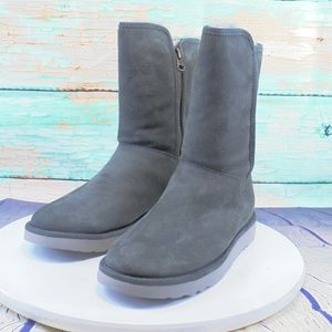 UGG Abree Gray Lambs Wool Lined Winter Boots